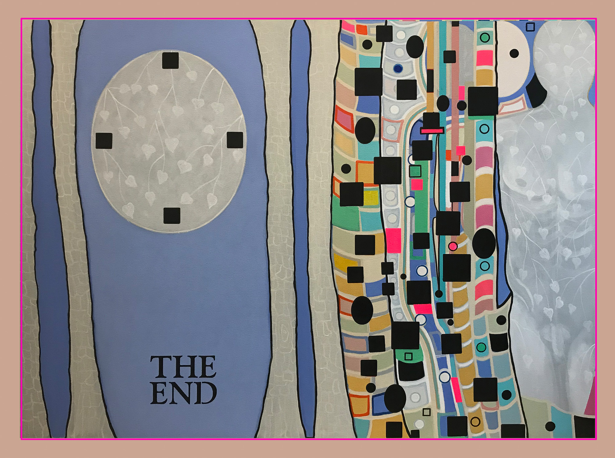 "THE END, 2020, 60""x 80"", acrylic on canvas"